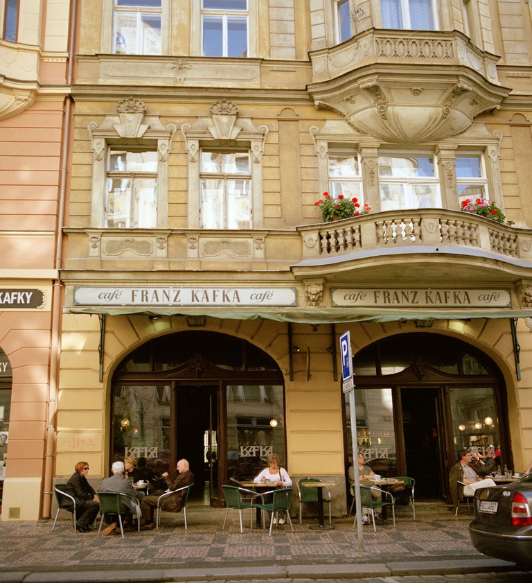 The Franz Kafka Cafe in the Josefov district, Prague