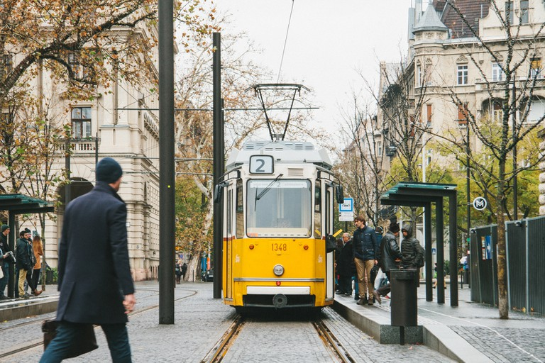 Trams in Budapest, Hungary