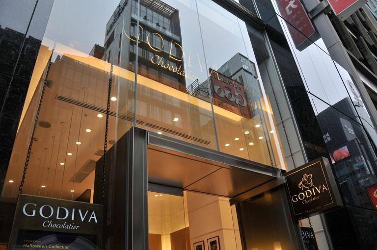 Godiva chocolate store, Ginza, Tokyo, Japan