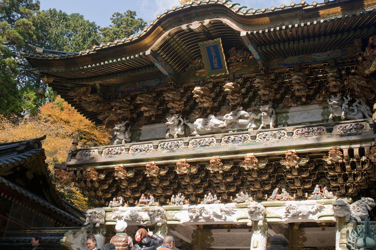 Yomei-mon, a national treasure and main gate at Tosho-gu Shrine, Nikko, Japan