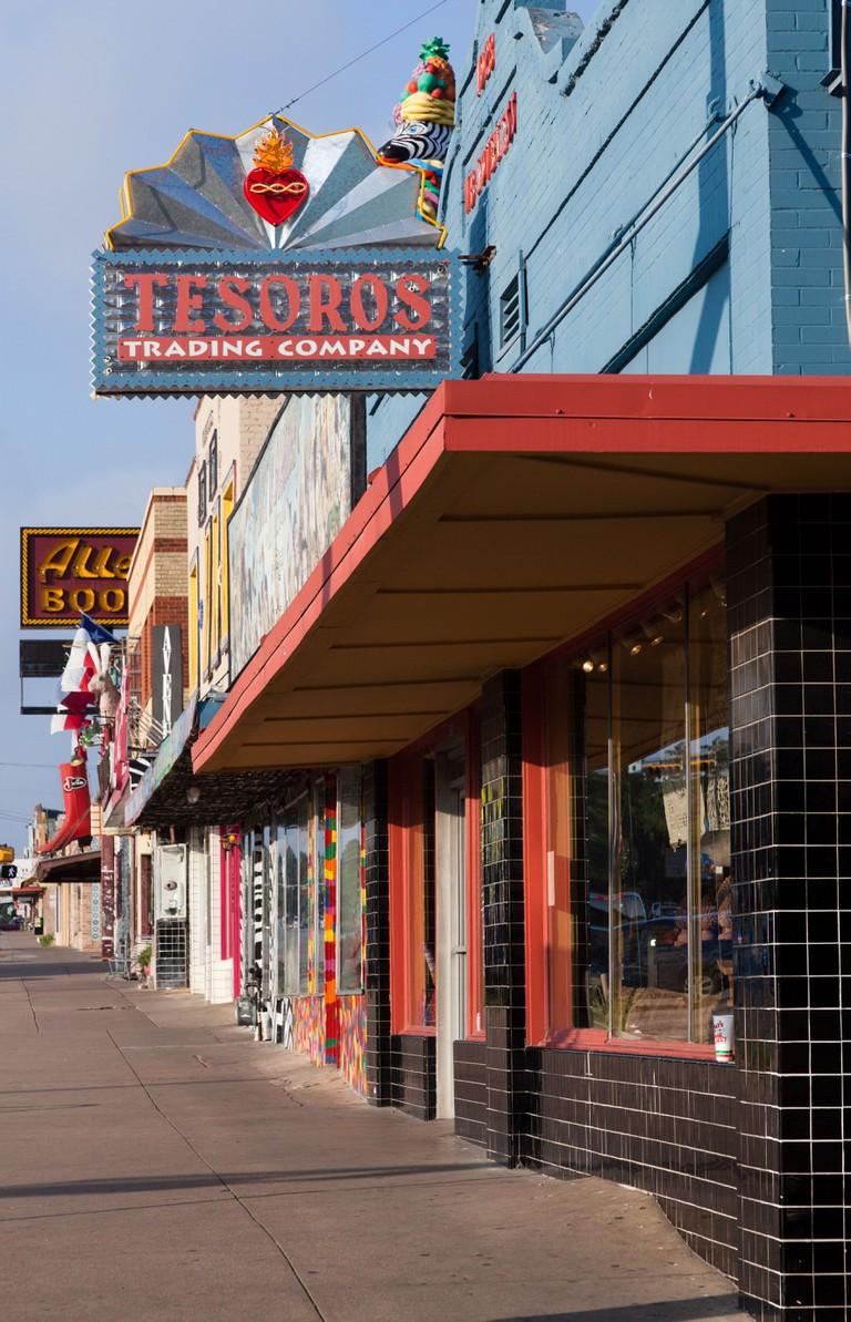 South Congress Avenue shops in Austin, Texas.