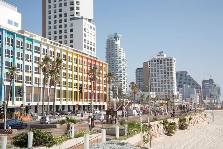 Beach, Tel Aviv, Israel.