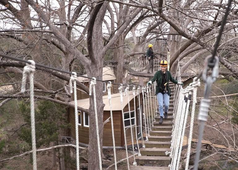 Canopy Zipline. Still from Culture Trip Social Video. 2019. Austin, Texas, USA.