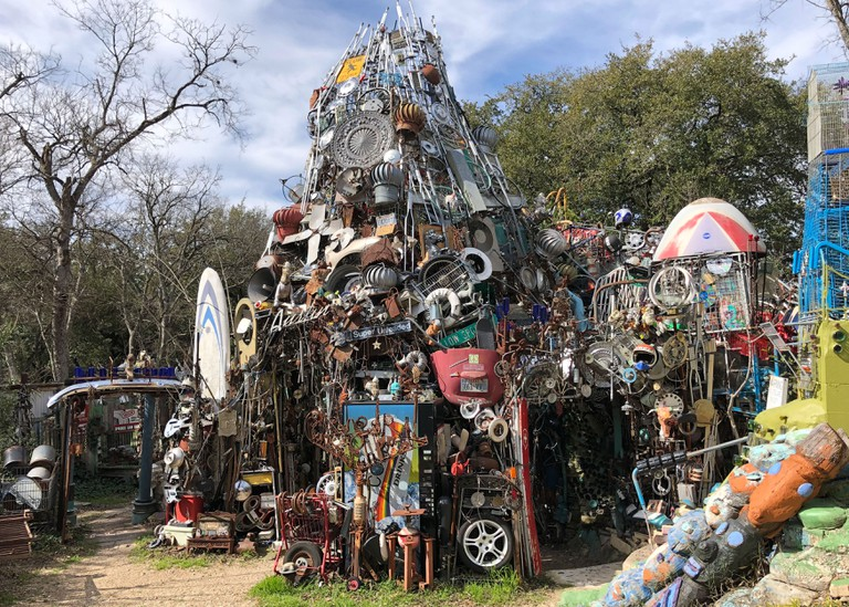 Cathedral of Junk. Still from Culture Trip Social Video. 2019. Austin, Texas, USA.