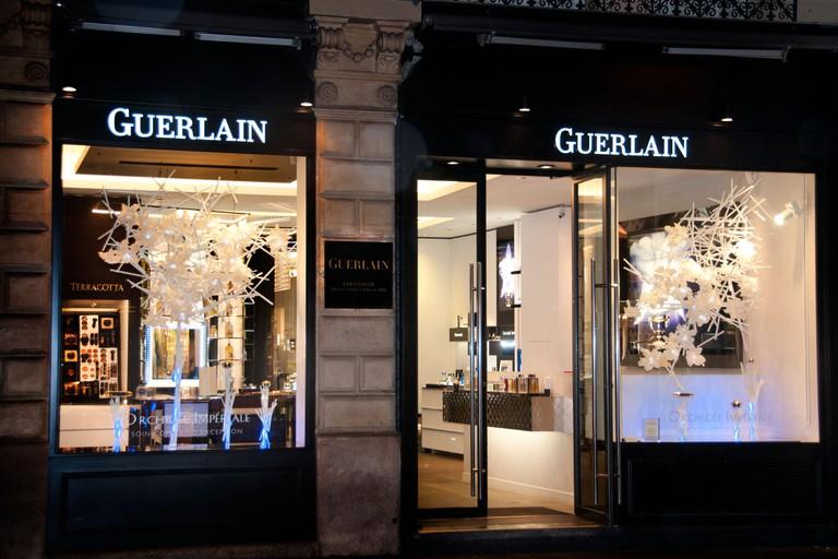 Guerlain perfume Paris Rue Faubourg Saint Honore France