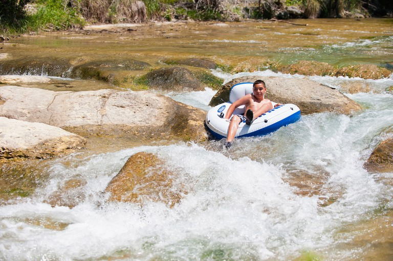 River Tubing at the Frio River near Leakey, Texas