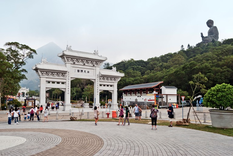 Gateway and approach to Tian Tan Buddha, Lantau Island, Hong Kong