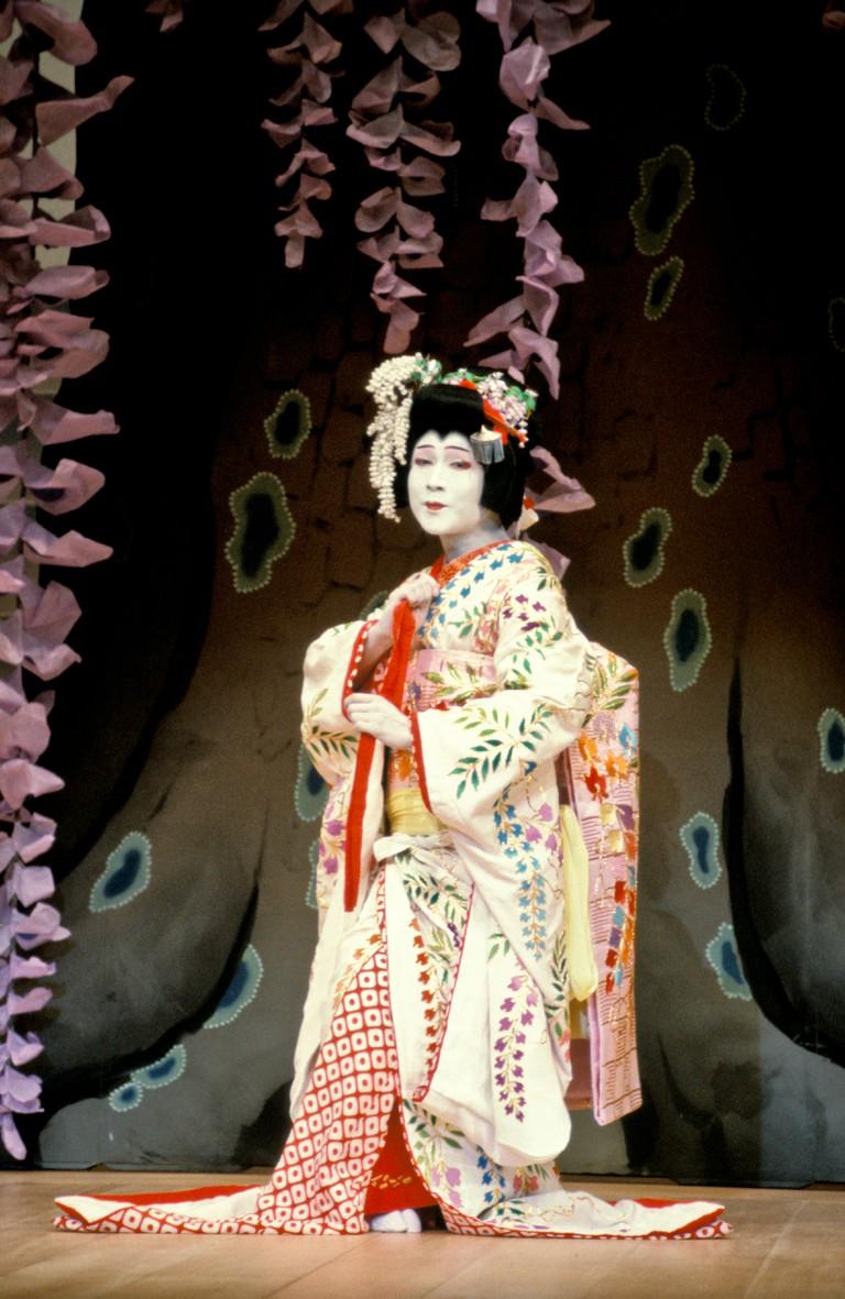 Japanese Man Performing In Kabuki Theatre, Ginza, Tokyo