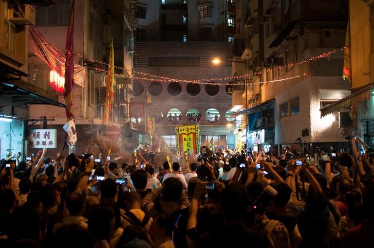 Tai Hang Fire Dragon Dance, Mid-Autumn Festival, Hong Kong.