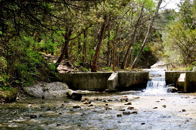 Chalk Ridge Waterfall, Texas.