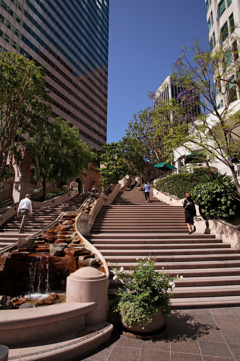 The Bunker Hill Steps, 5th Street, Downtown Los Angeles, California
