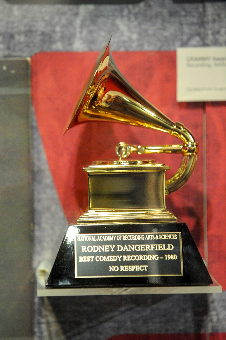 Rodney Dangerfield exhibit at the Grammy Musuem in Los Angeles.