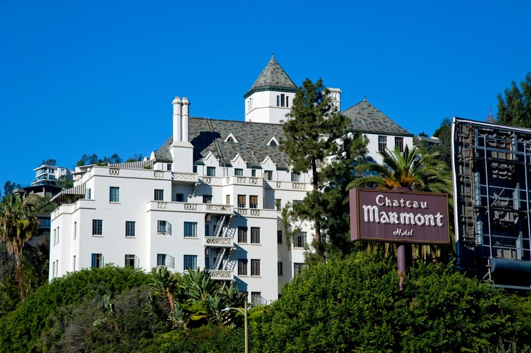 Chateau Marmont hotel on the Sunset Strip in Los Angeles, California.