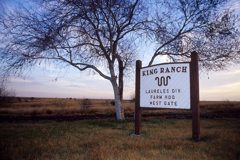 King Ranch gate entrance