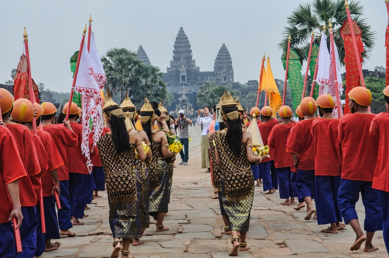 Apsara Khmer traditional dancers in Angkor Wat, Siem Reap, Cambodia
