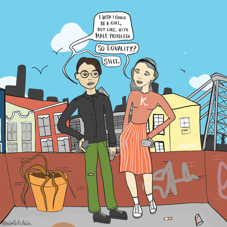 A New York-inspired comic made in collaboration with @overheardnyc
