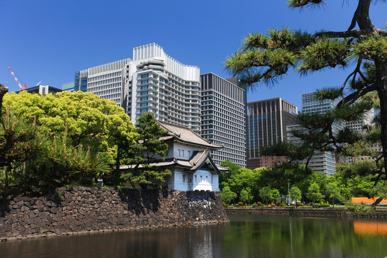 The Imperial Palace is Japan's royal residence