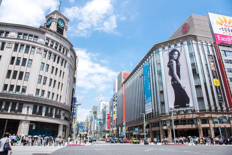 Ginza Wako is located right in the centre of Ginza