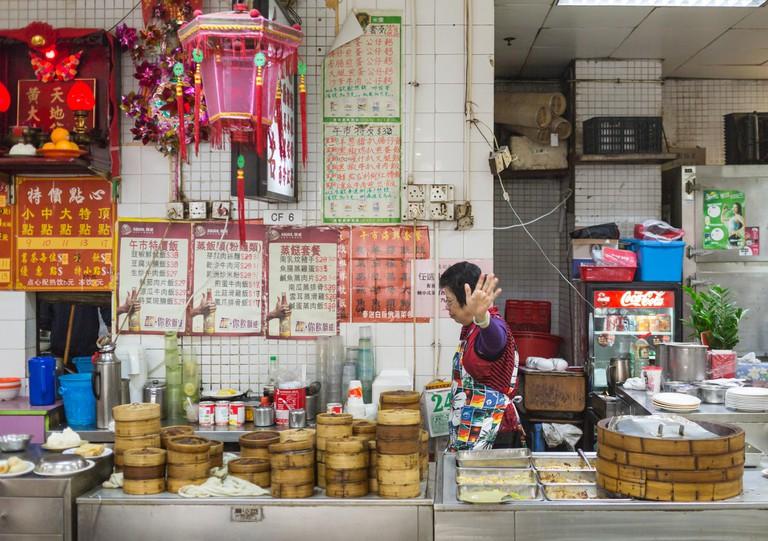 Dim Sum stall in Hong Kong.