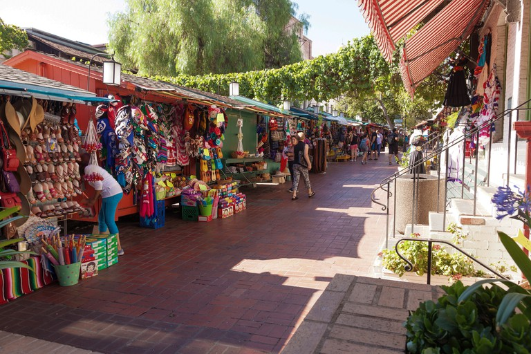 Tacos and Mexican candies are a must on LA's Olvera Street