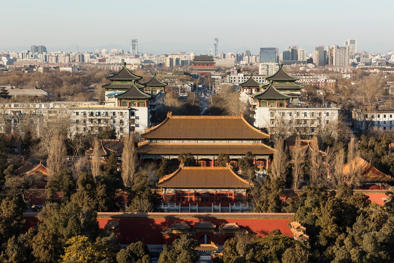 View of Beijing from Jingshan Park.