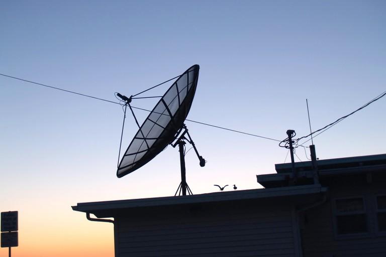 Satellite Dish on top of dwelling