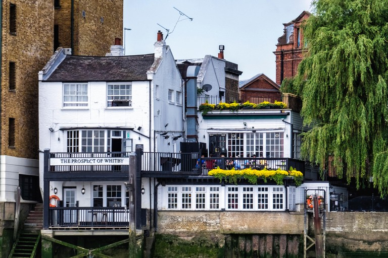 The Prospect of Whitby, a traditional historic English riverside pub