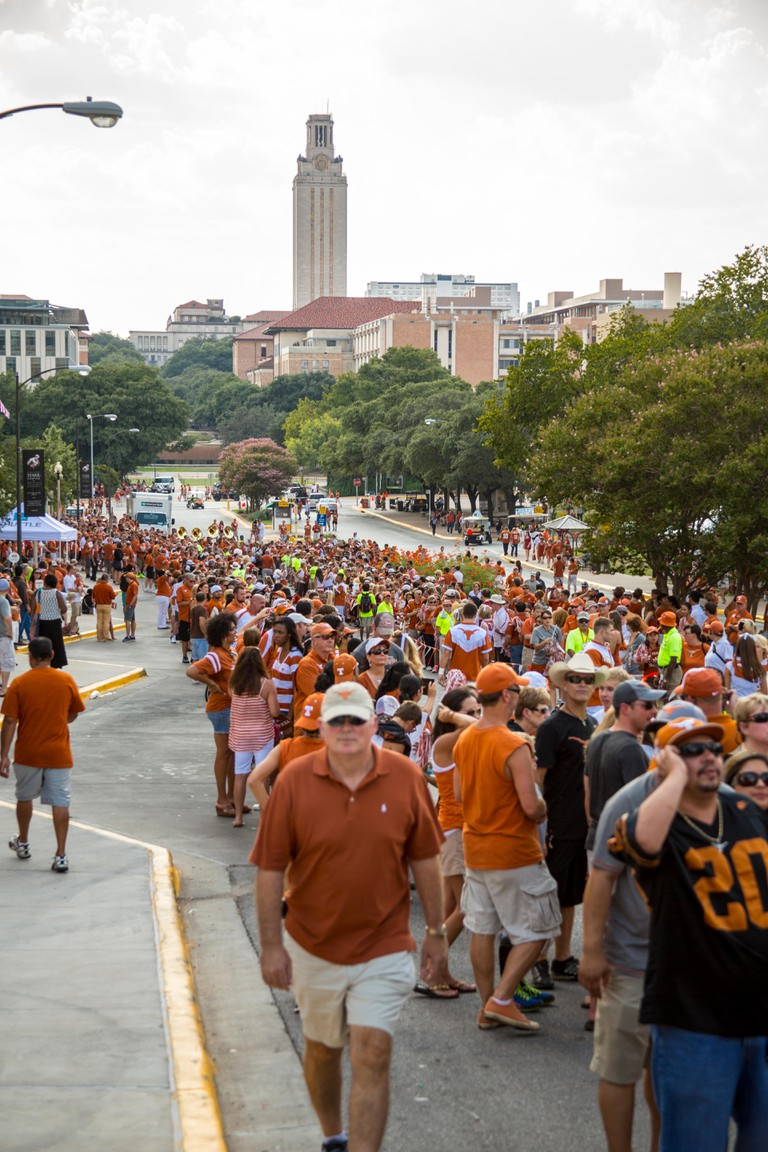 Pre-Game Football Activities at The University of Texas, Austin.