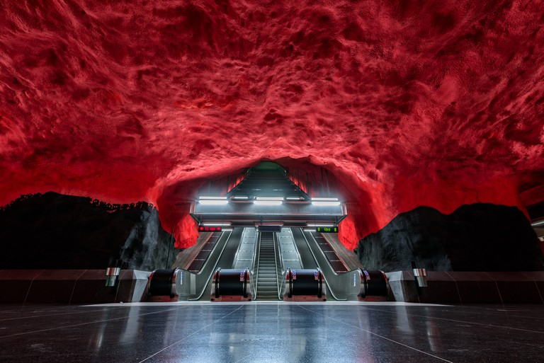 Solna Centrum Station, Stockholm, Sweden.