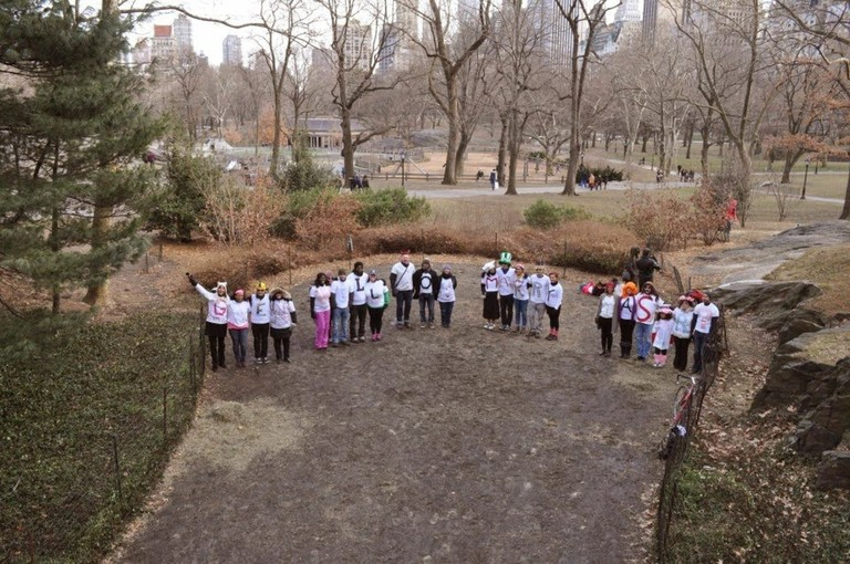 Yasir's marriage proposal to Gwen in Central Park after the 2012 New York City Marathon.