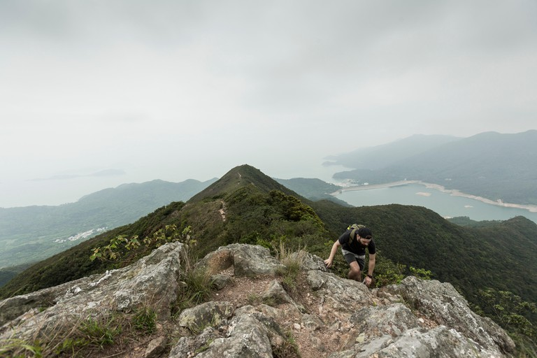 Hiking up Lantau Peak via Dogs Tooth Trail, Lantau, Hong Kong 2017