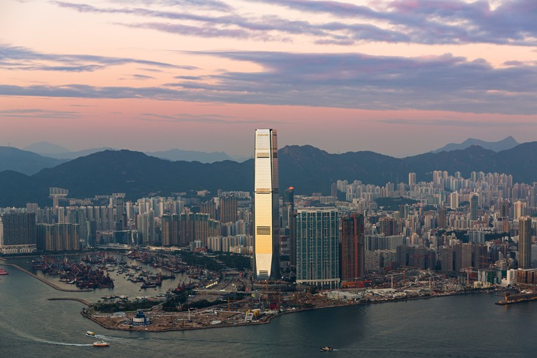 Sky 100, Hong Kong's tallest building.