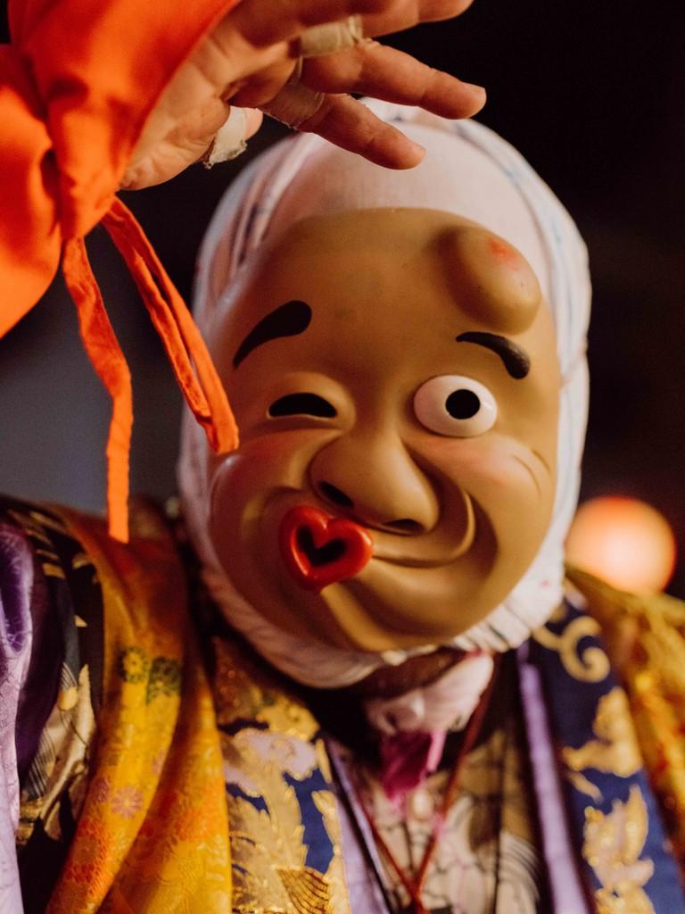 A performer at Yoshida Shrine, Mito, Ibaraki