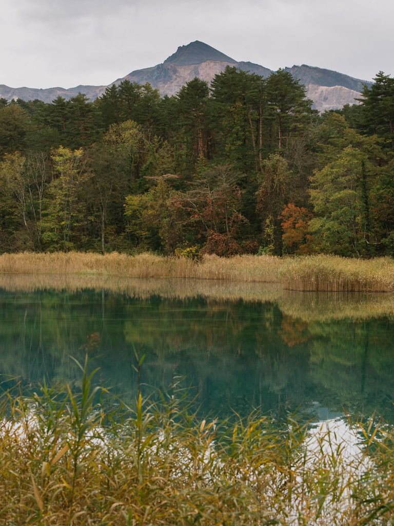 The jewel-coloured lakes at the foot of Mount Bandai