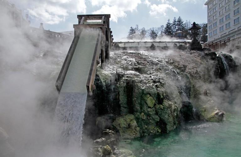 Kusatsu Onsen hot spring, Japan