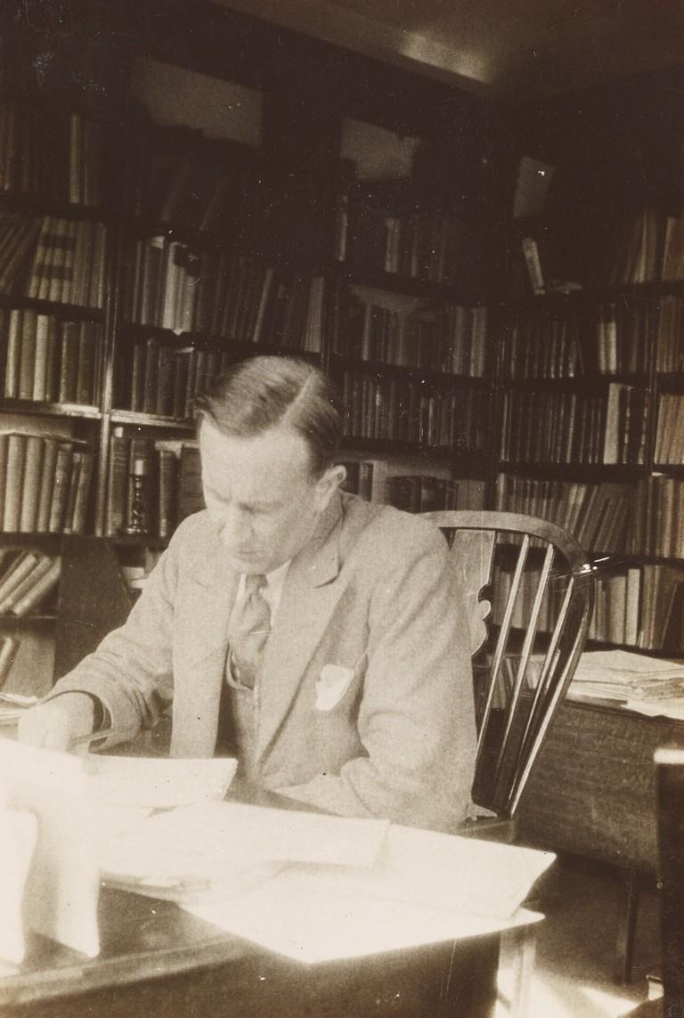 John Ronald Reuel Tolkien in his study.