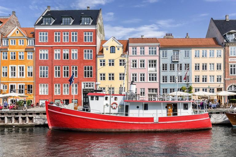 Nyhaven inner harbour in Copenhagen