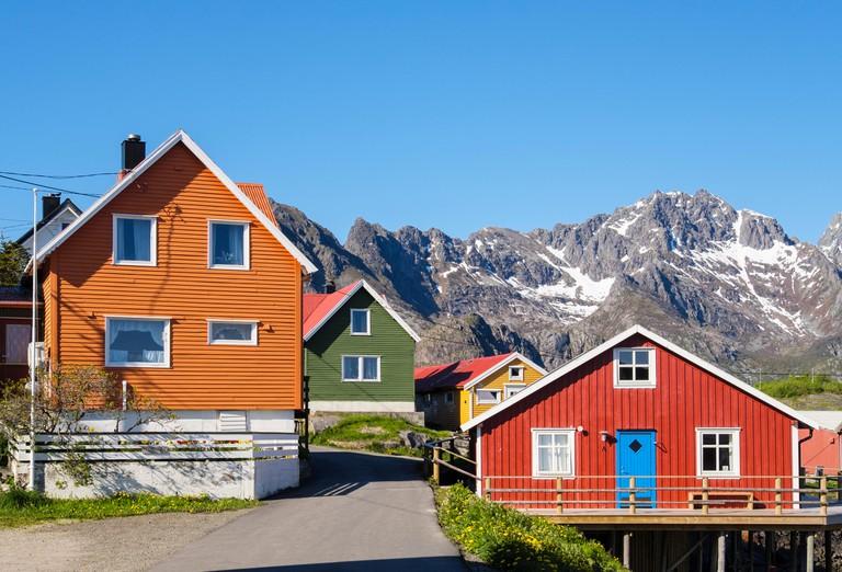 Henningsvaer, Austvagoya Island, Lofoten Islands, Nordland, Norway.
