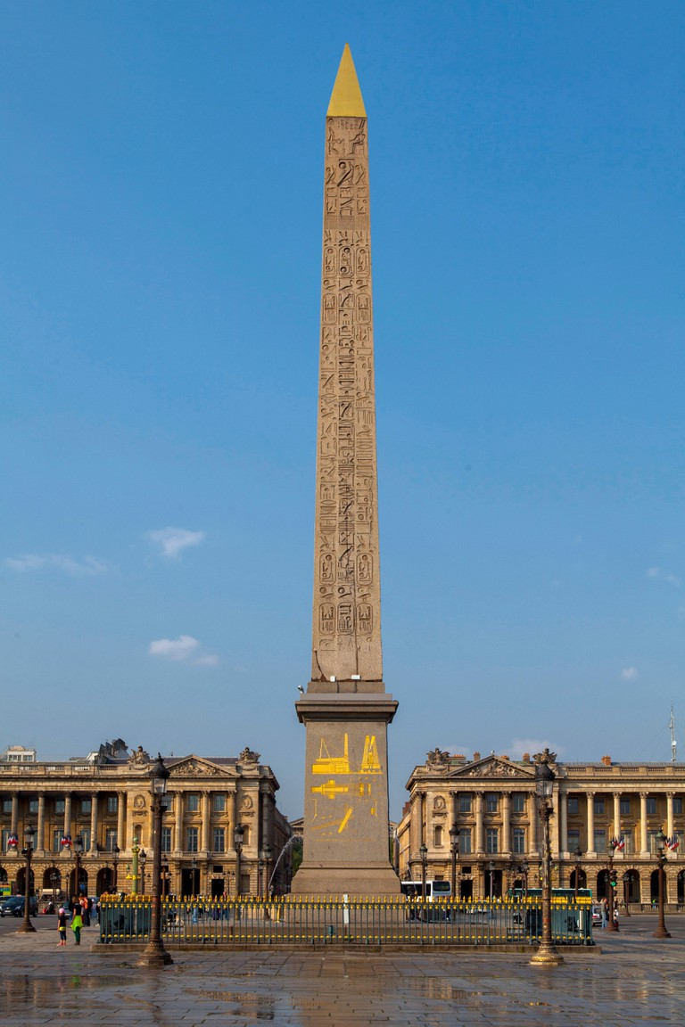 Paris (France): the Luxor Obelisk in place de la Concorde square, in Paris 8th arrondissement / district (not available for postcard production)