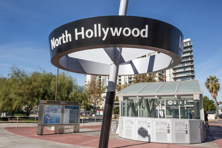 North Hollywood, California Metro Station