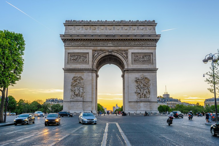 Arc de Triomphe in Paris , France