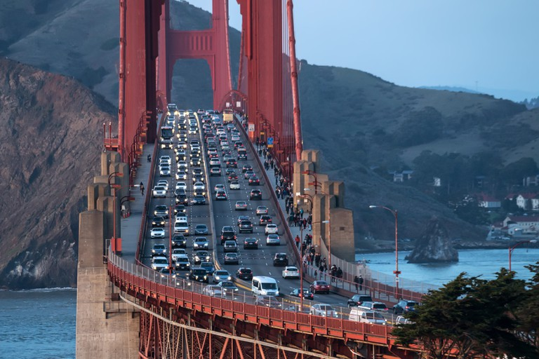 Beautiful cityscape of Golden Gate Bridge.