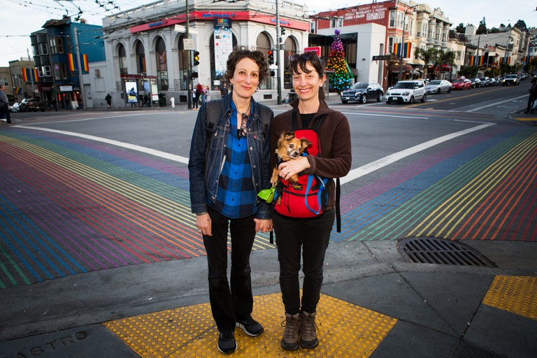 The area has rainbow-painted crosswalks as a monument to its LGBTQ history