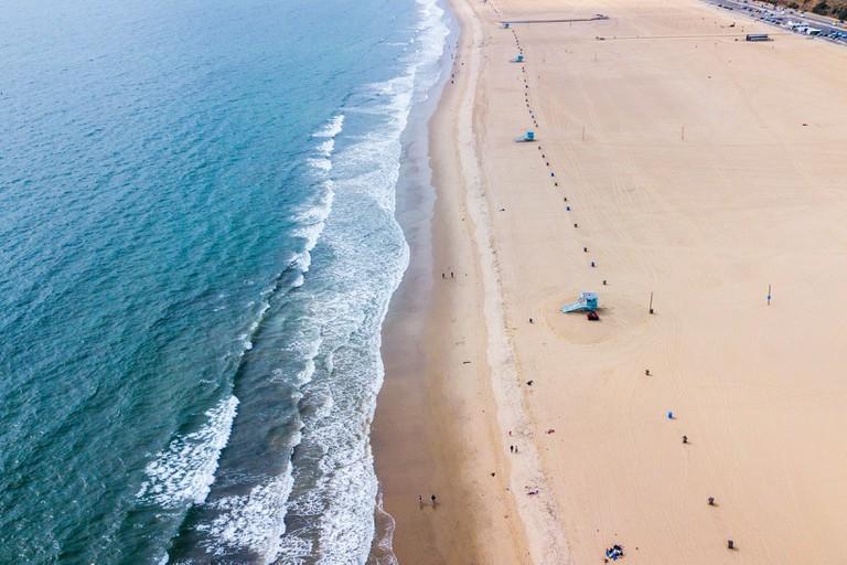 Santa Monica State Beach, Santa Monica, California, USA