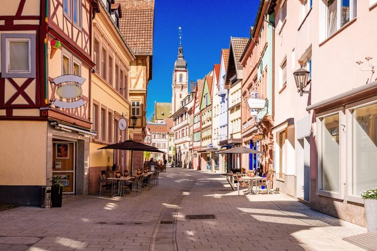Old town in Tauberbischofsheim, Bavaria, Germany.