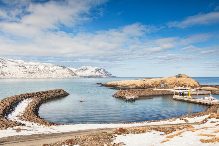 The small harbour at Bakkagerdi in East Iceland.