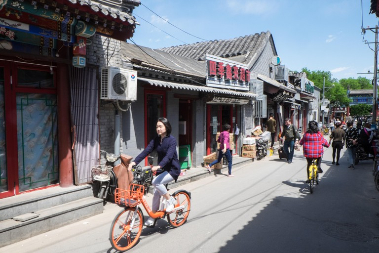 Hutong,hutongs,alley,alleyway,Beijing,Peking,capital,city,Peoples Republic of China,China,Chinese,Asia,Asian,