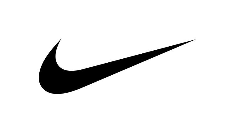 Logo for American sportswear company Nike (public domain)
