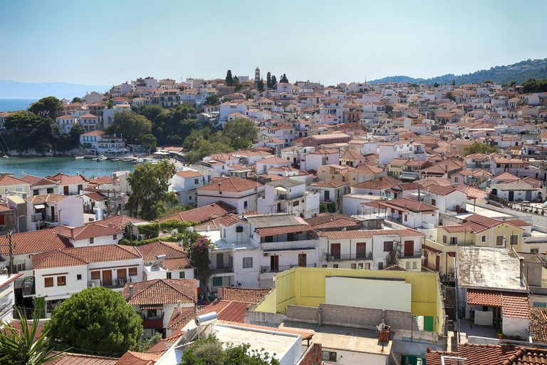 Skiathos town on Skiathos island, Greece.