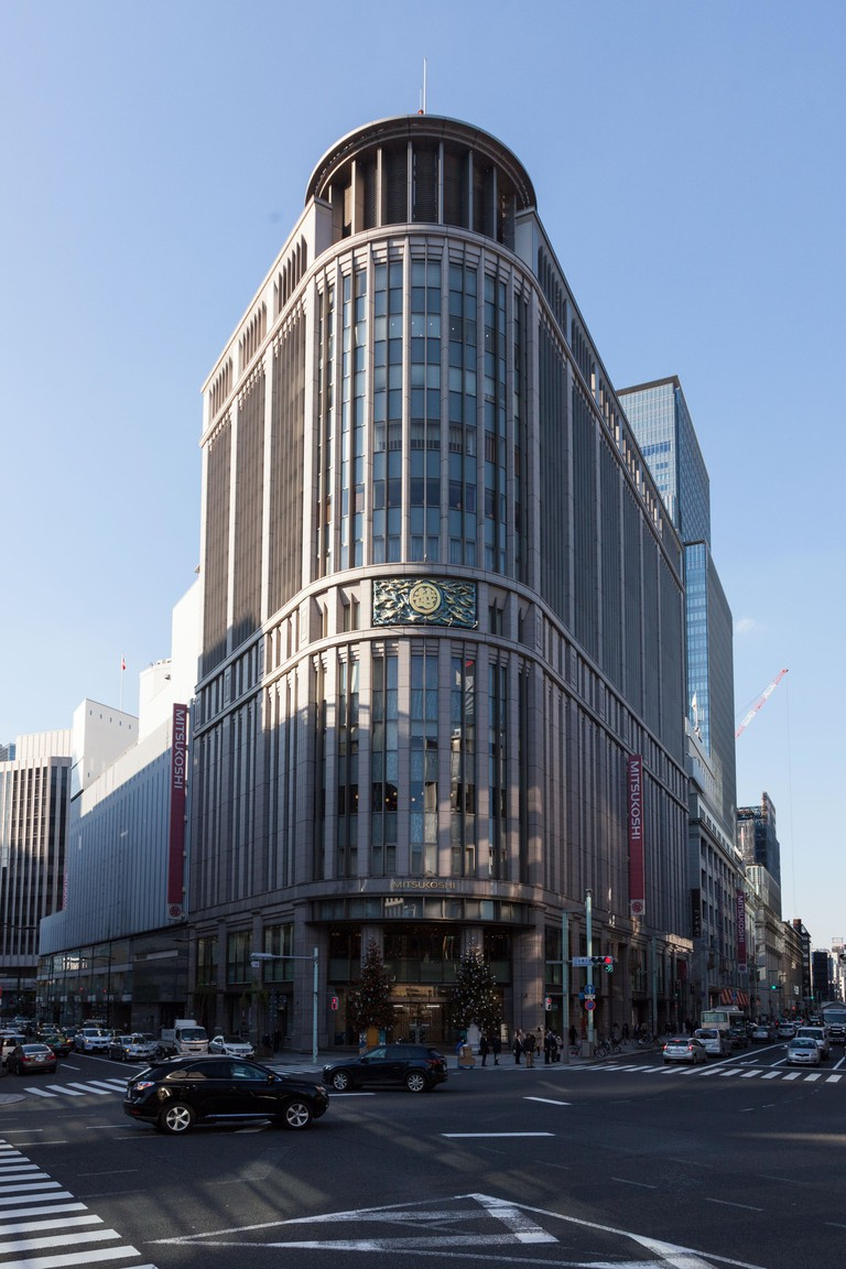 Iconic Mitsukoshi department store building in Nihombashi, Chuo, Tokyo, Japan.